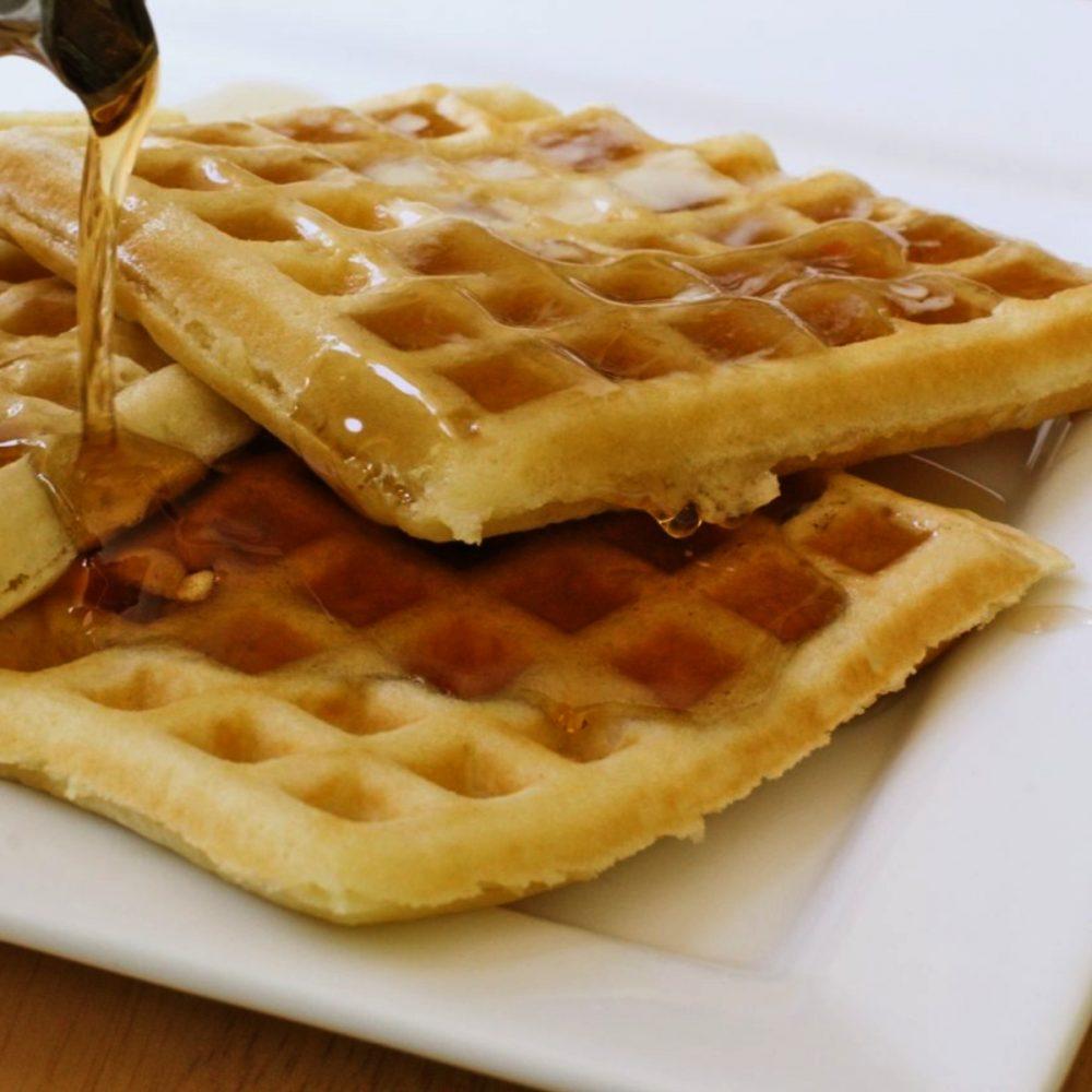 Waffles Acompañados con Miel